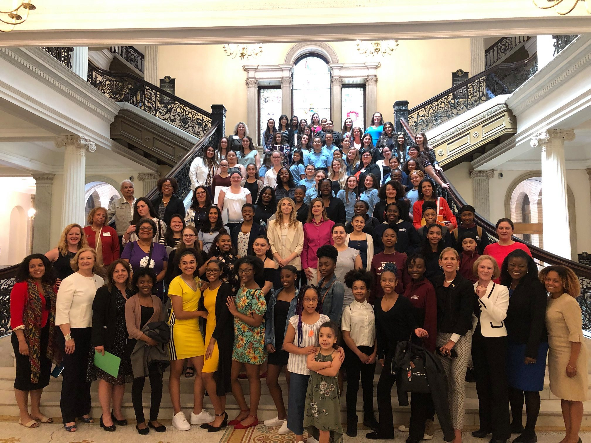 YWCA Southeastern MA staff and supporters joined a regional cohort of advocates at Women's Advocacy Day in May 2019.