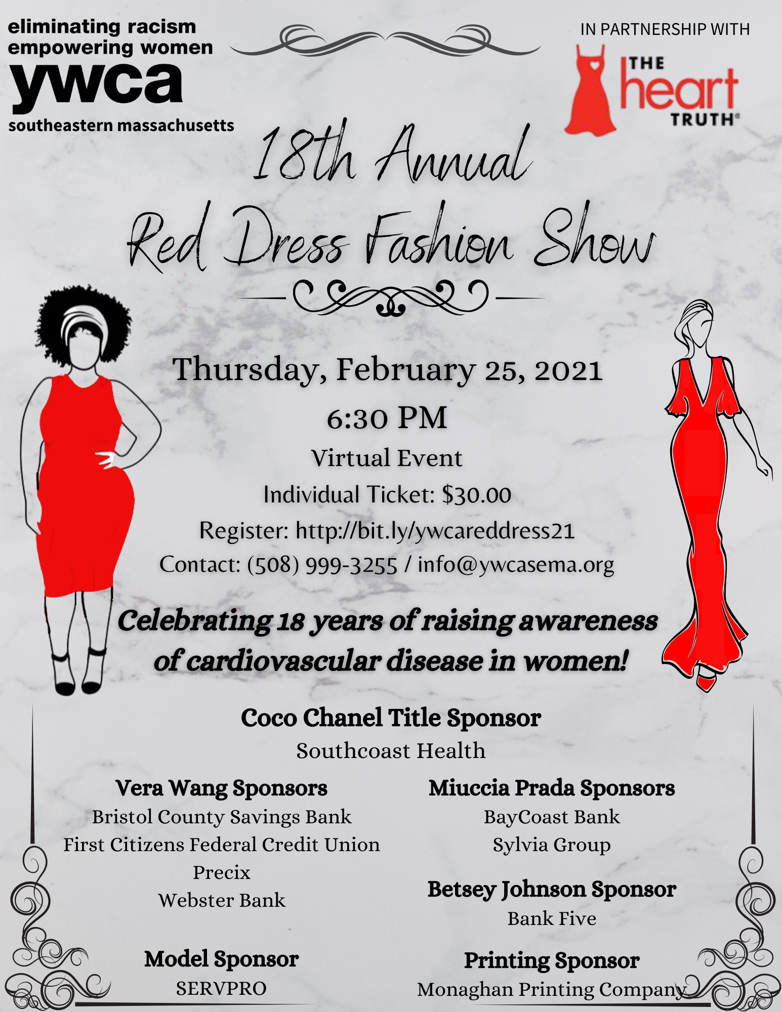 Save the date Red Dress Flyer (2)