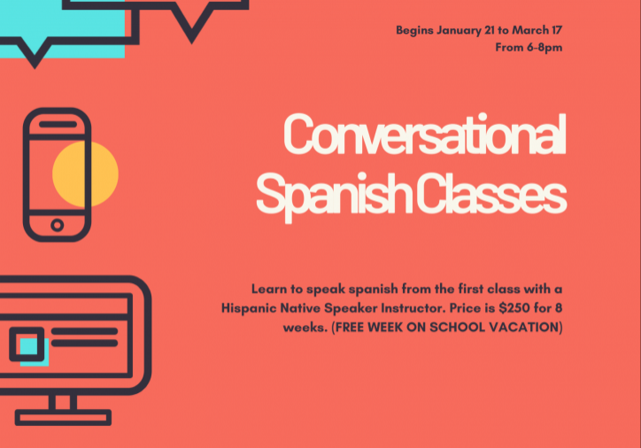 spanish conversations flyer